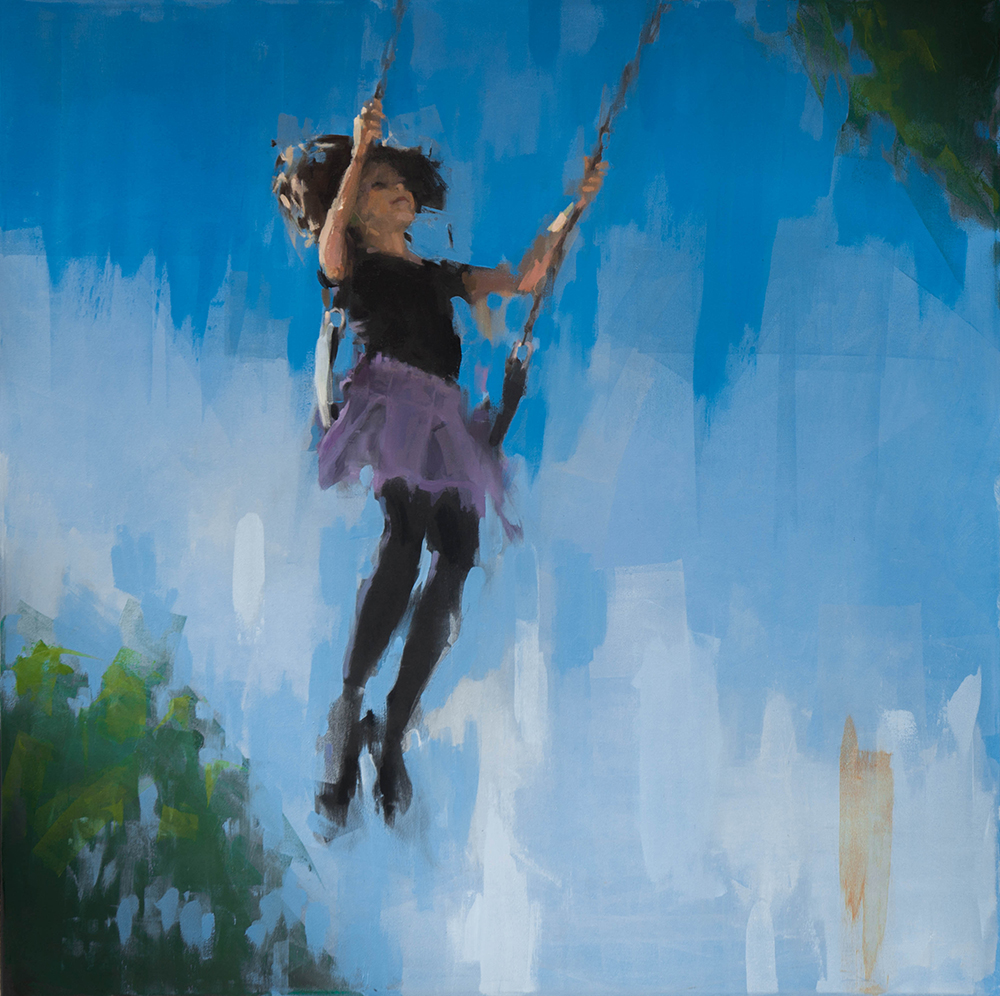 swings 2 - 40x40 inches - oil on canvas - 2017