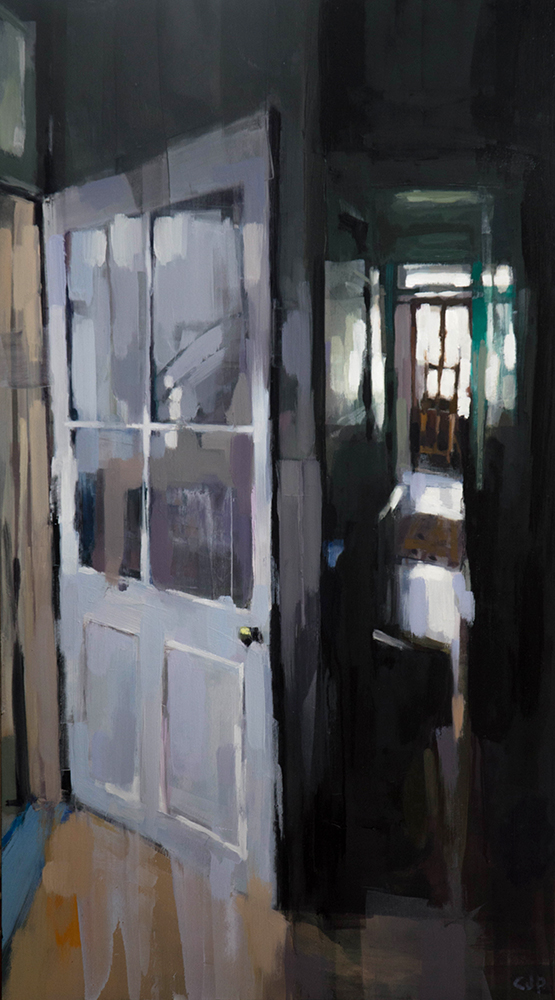 Carpets and Doors 2 - 18x36 inches - oil on canvas - 2017