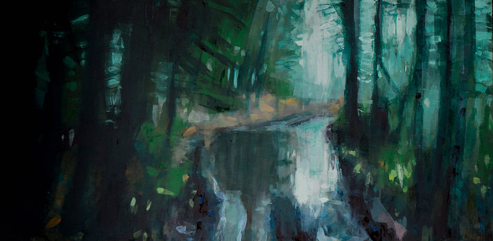 Big Puddles - 24x48 inches - oil on wood board - 2017