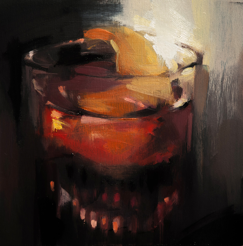 dominion negroni - 10x10 inches - oil on board - 2018