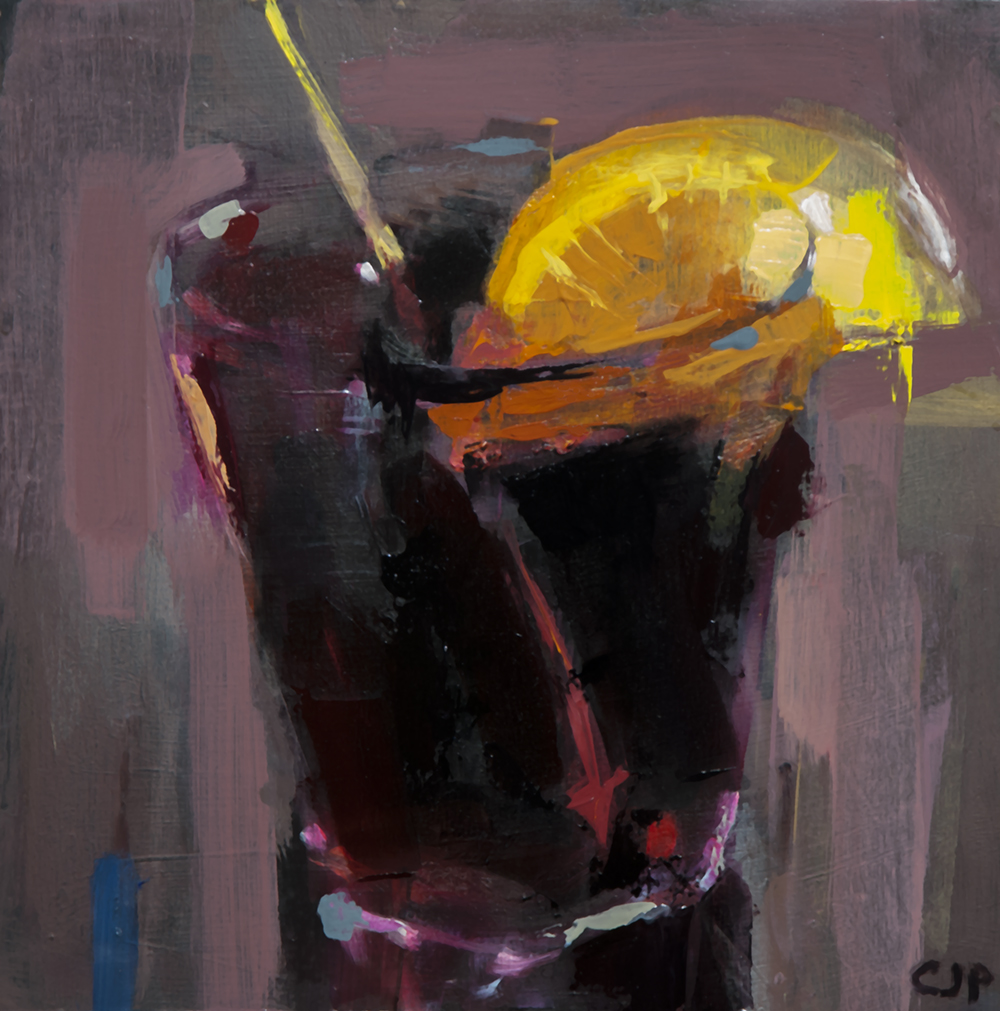 sala rosa negroni - 10x10 inches - oil on board - 2018