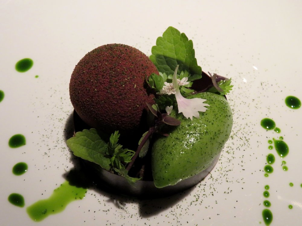 Chocolate with early fall herbs