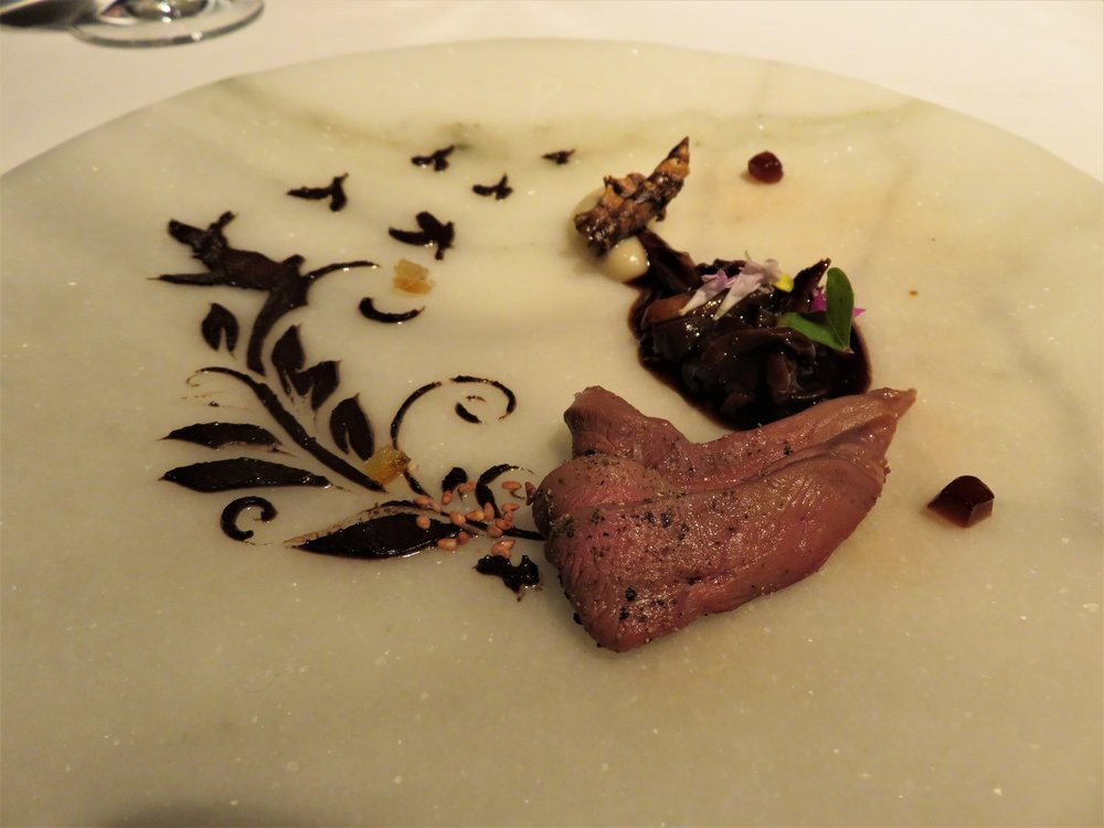 Fly, fly away. Squab civet and its parfait