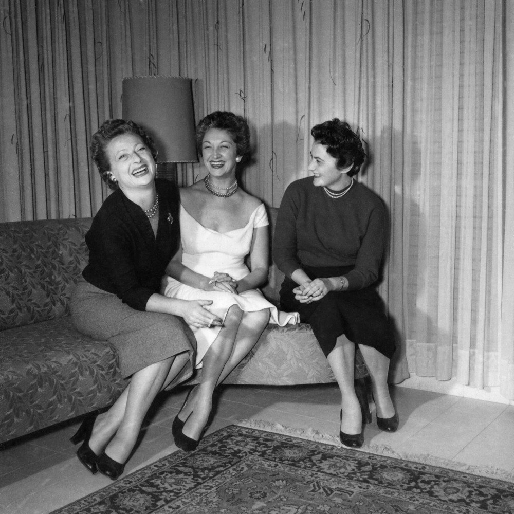 Betty, Anna and Mira in Tel Aviv, 1955.