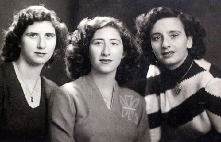 From left to right: Marcel, Nur (Marcel's sister) and Hana (Marcel's sister-in-law) - Baghdad, 1947