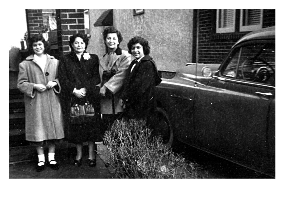 Three Generations in Brooklyn, 1949 - (from left to right) Annette (Jennifer's mom), Steta (great-grandmother), Fritzie (grandmother), and Essie (aunt).
