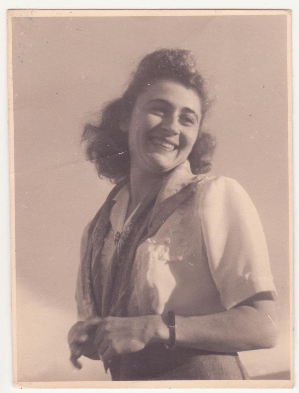 Hilda Dormont born in 1926, pictured here in Tel Aviv.