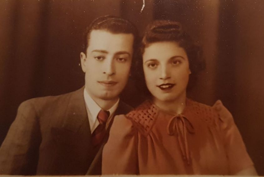 Naomi's Grandfather Yaakov and Grandmother Rashel in Syria in the 1940's.