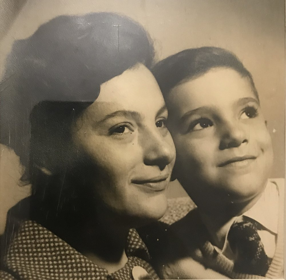 Malena's grandmother, Eva, and her Dad in Buenos Aires, 1960.