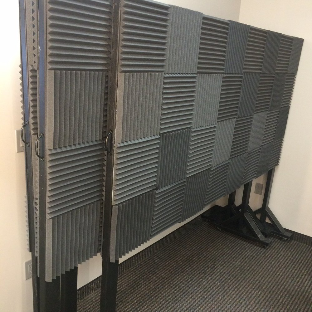 Portable sound baffle boards