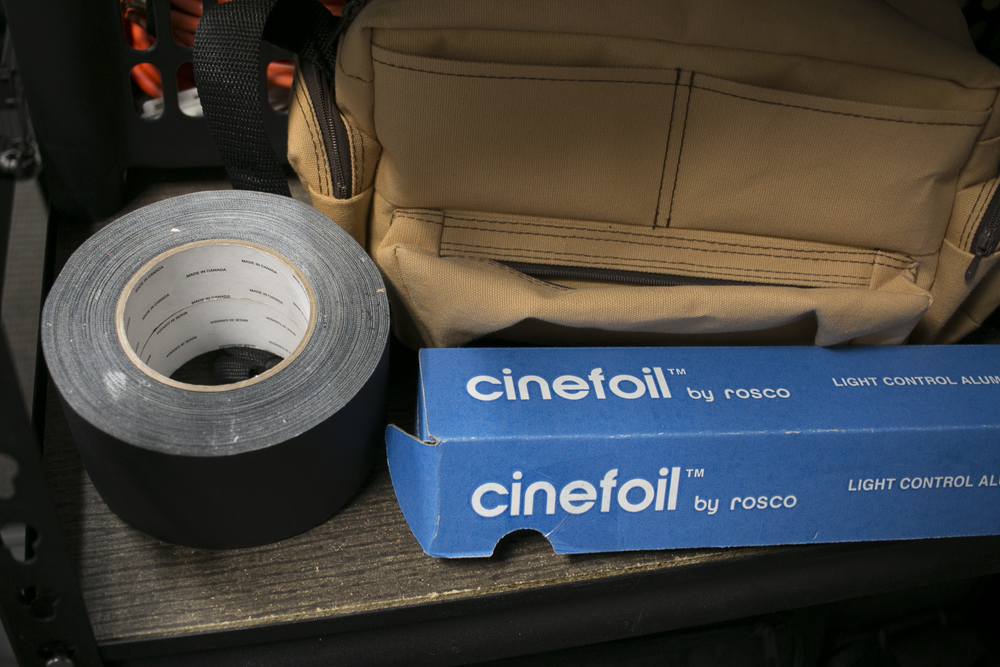 Gaff, cinefoil, and clips