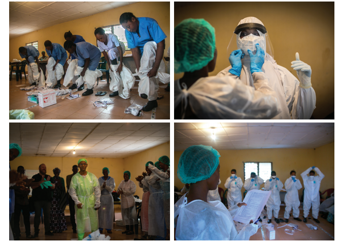 Training on the Use of Personal Protective Equipment (Photo Credit: Patrick Adams/RTI International)