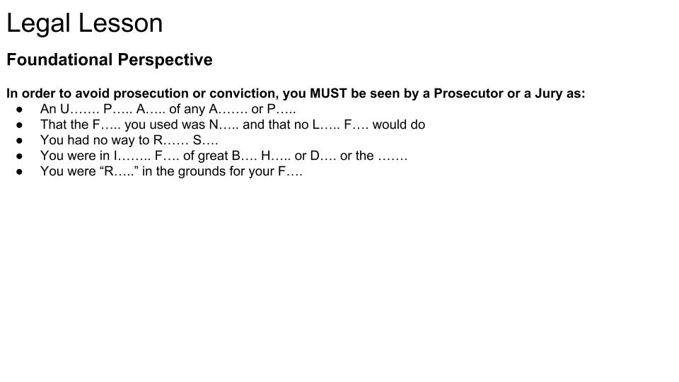 Foundational Legal Perspective Quiz