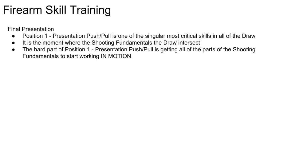 Firearm Skill Training 2 pg 1