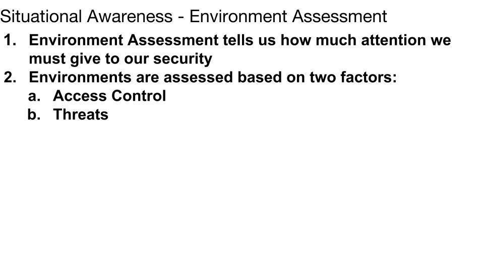 Environmental Assessment p 1
