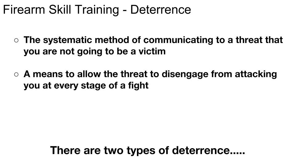 Deterrence p 1