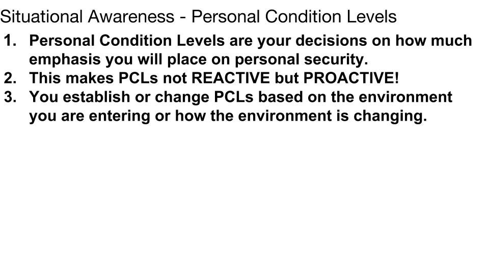 Personal Condition Levels p 1