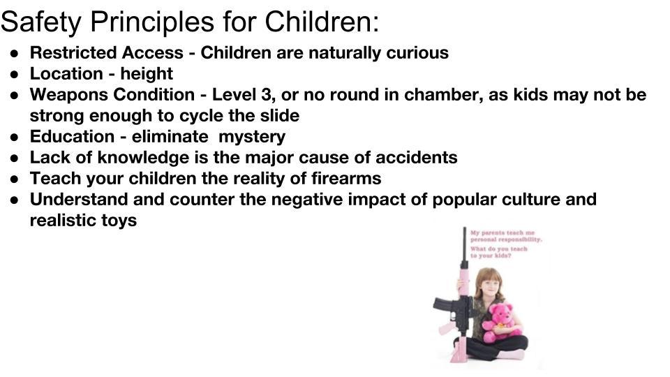 Safety Principles for Children