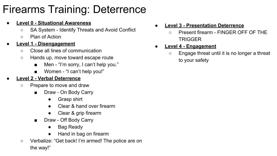 Deterrence Overview