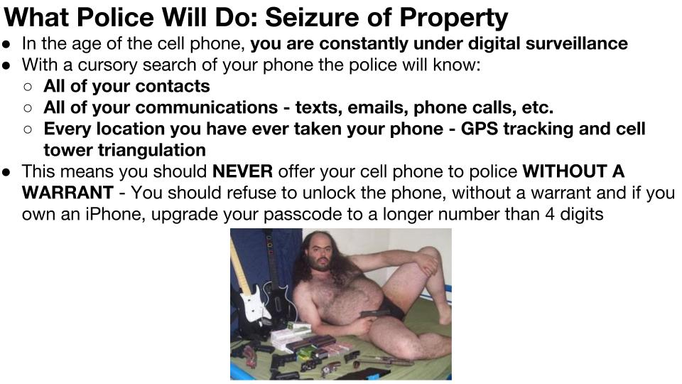 Police Seizure of Property p 1