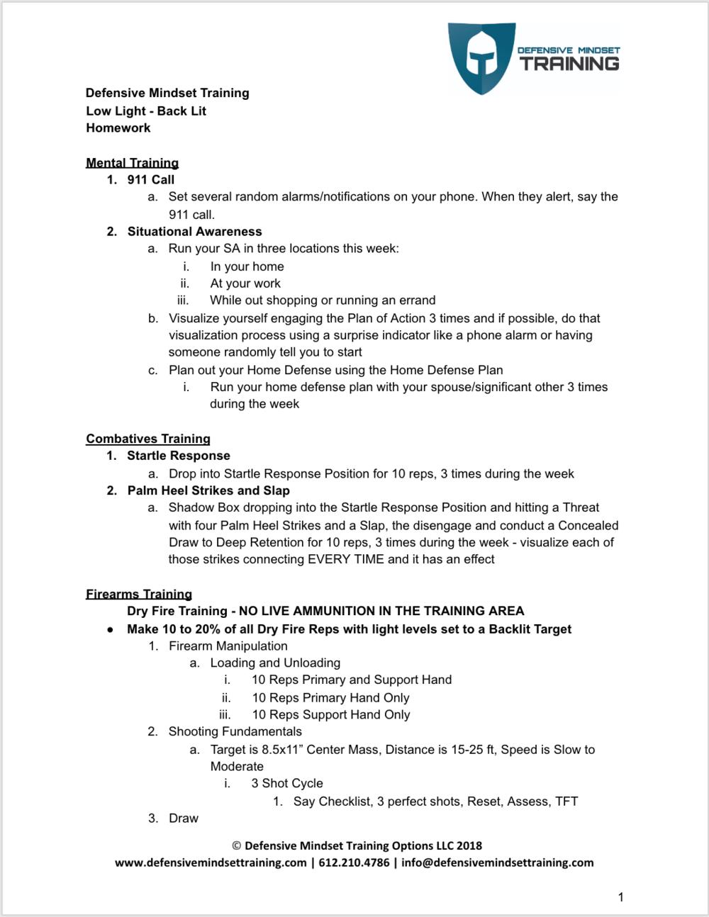 Low Light - Back Lit - Homework p 1