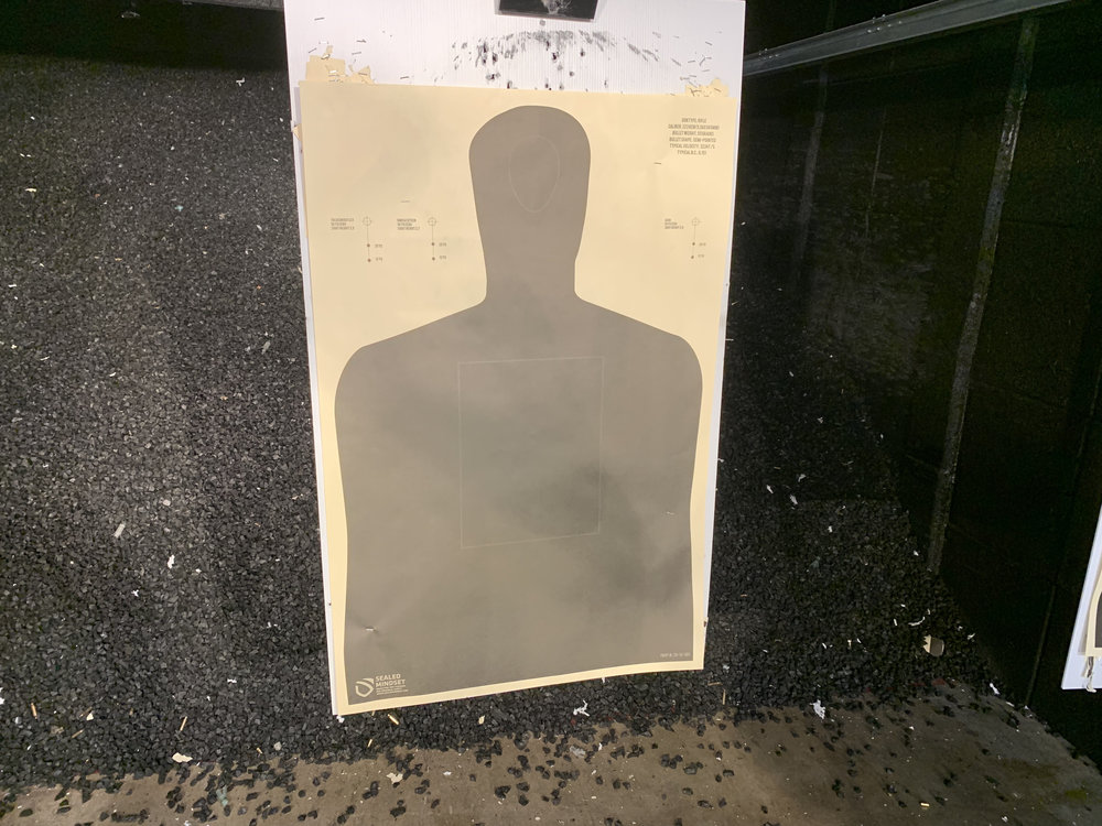 Take a picture of the target you used AFTER your filming.