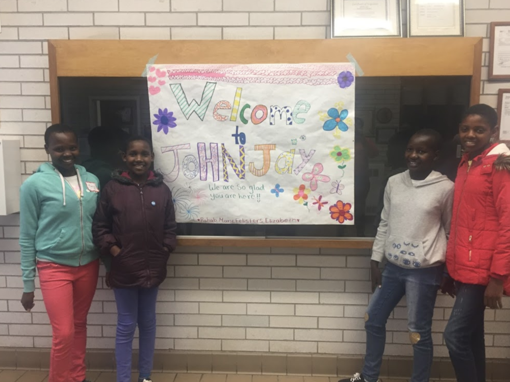 A welcome sign from students at John Jay High School, where the Students for KEEP club meets