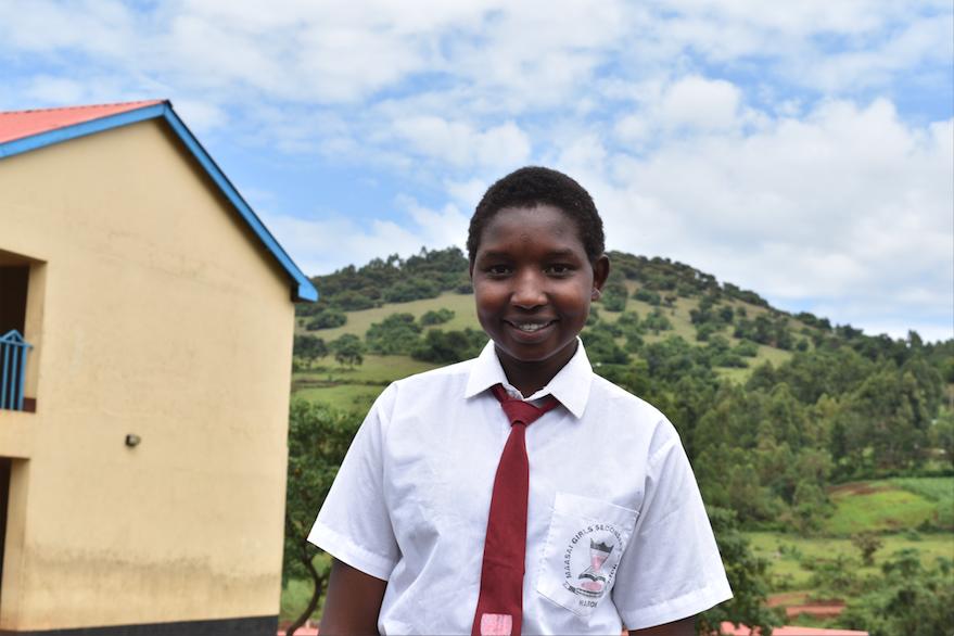 Magdalene as a high schooler, where she was part of Kakenya's Dream Network for Excellence
