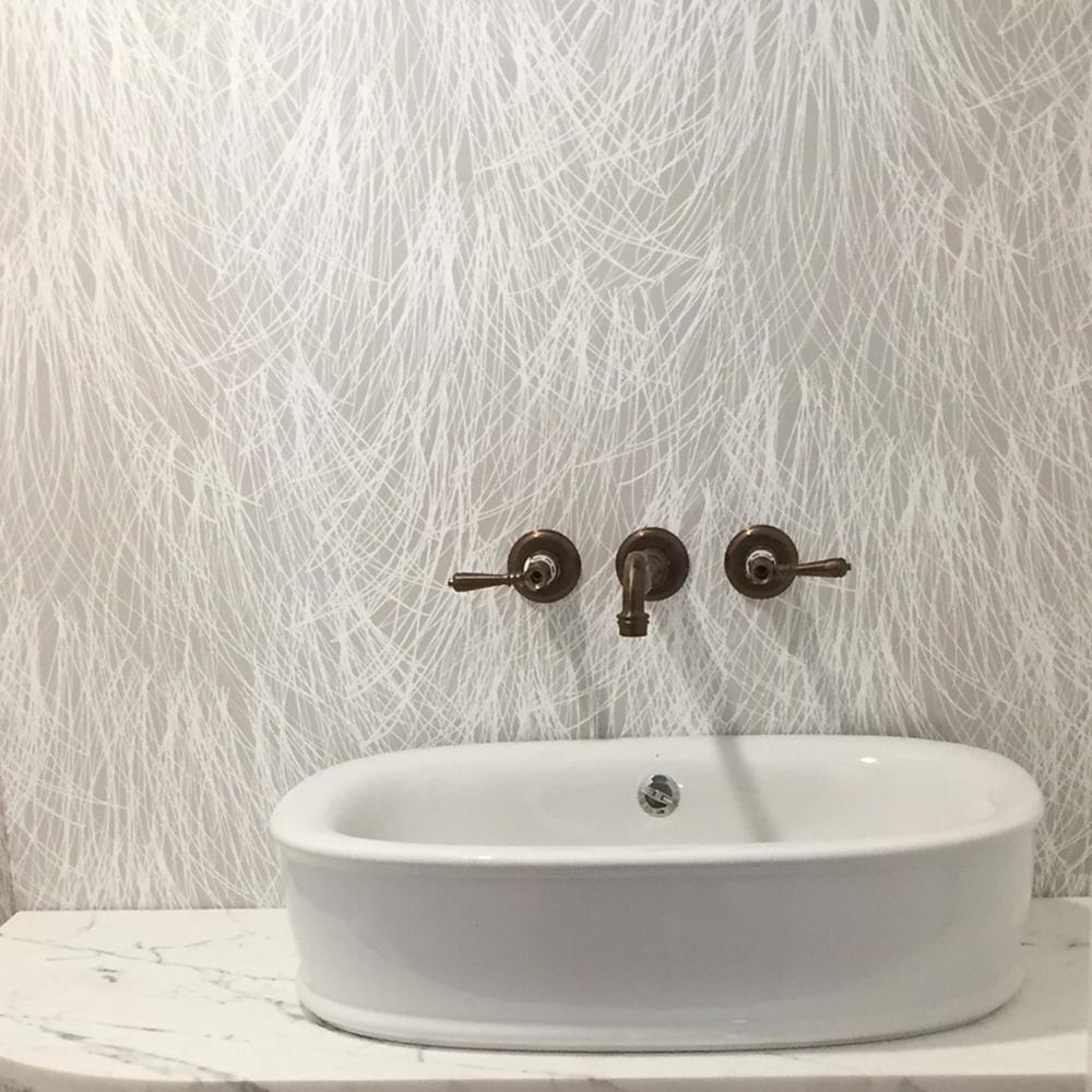 Shag in Heather Colorway - Modern Bathroom