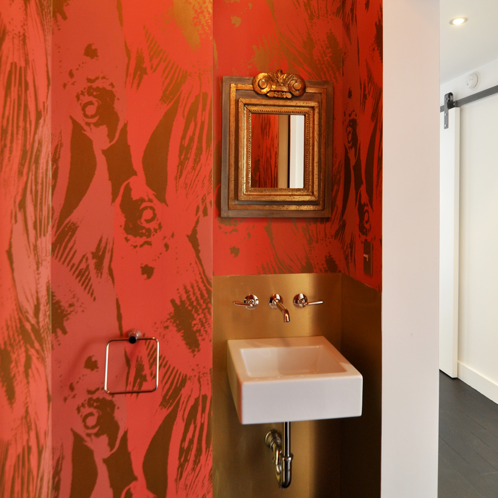 Betta in Persimmon Colorway - Modern Bathroom