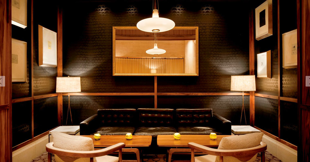 JILL MALEK WALLCOVERING IN THE RITZ-CARLTON BOSTON'S GUEST SUITES, BAR + LOUNGE