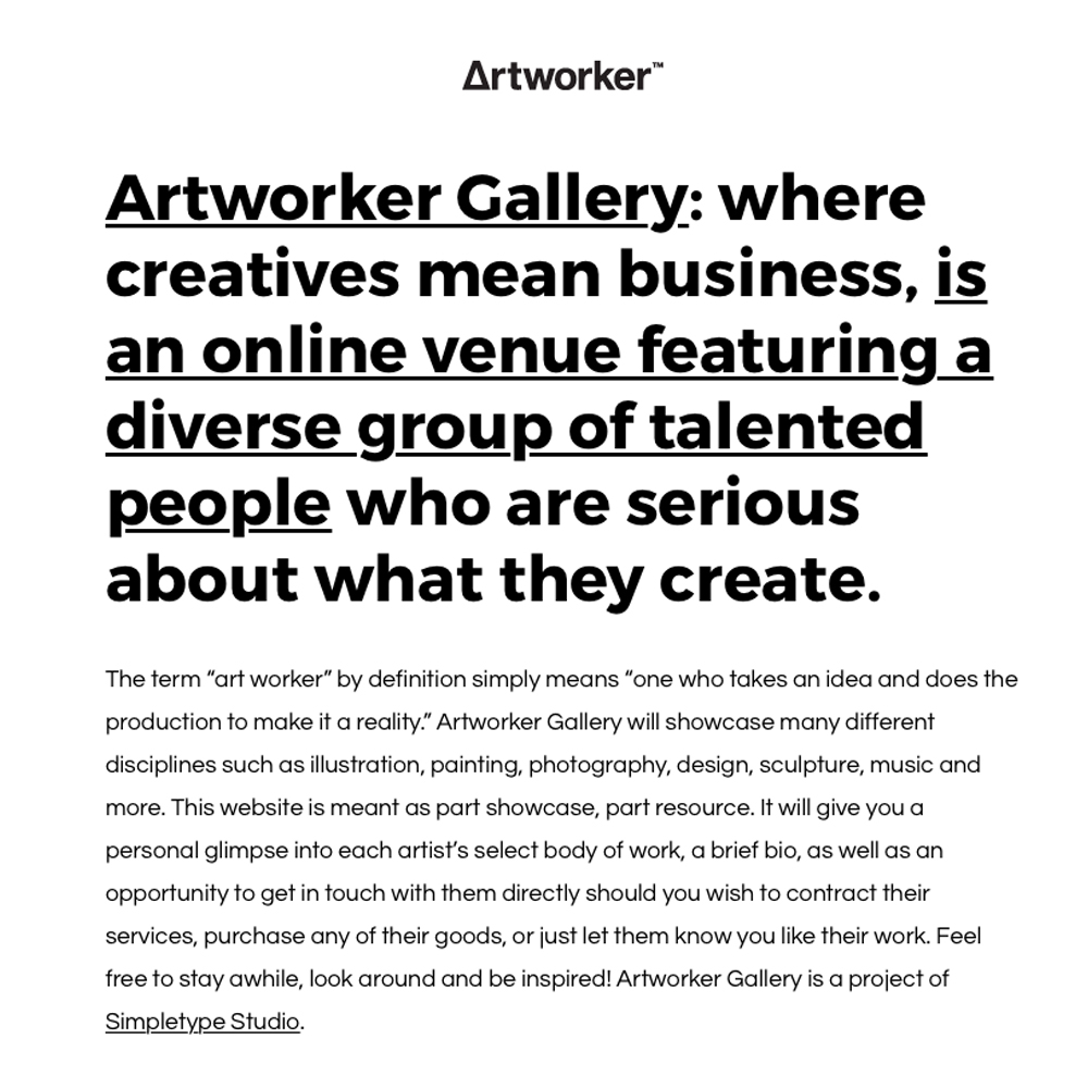 About Artworker