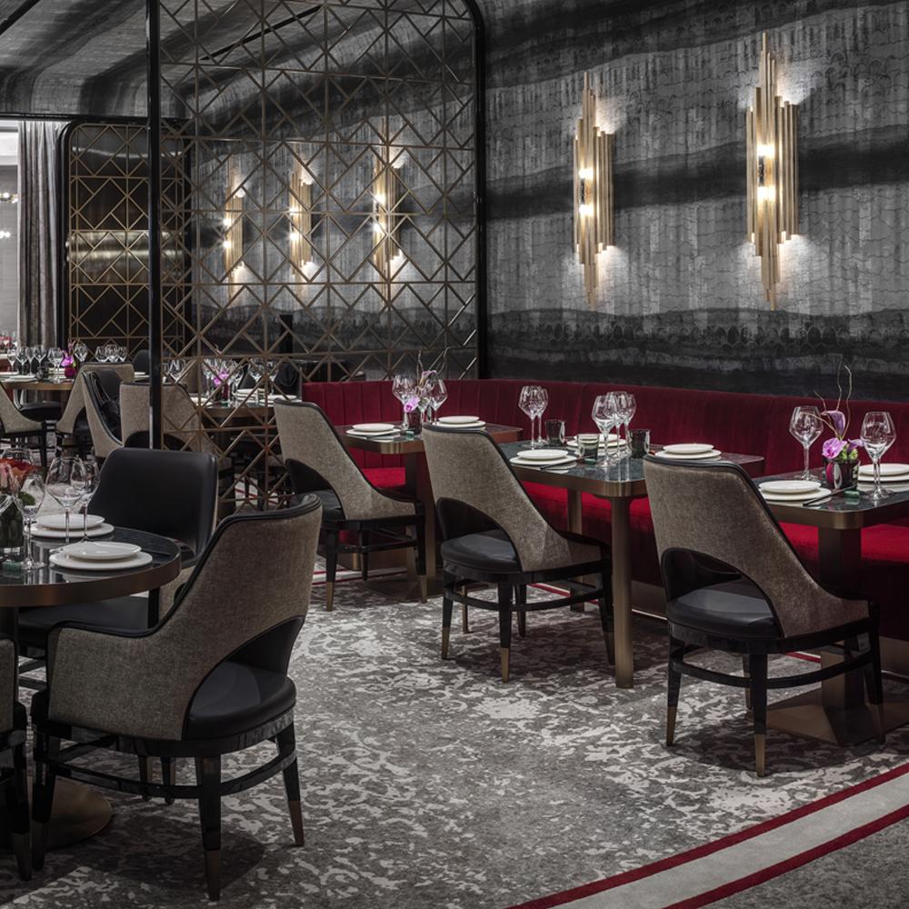 Custom Wallcovering for Red Plate @ The Cosmopolitan Las Vegas