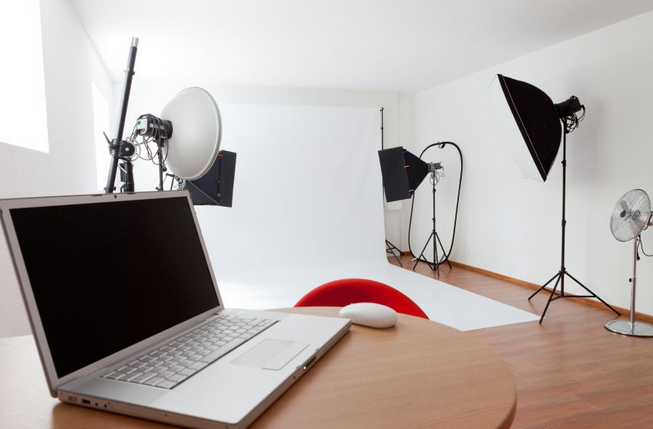 Our photography studio in Birmingham. We can also come to your office with our mobile studio.
