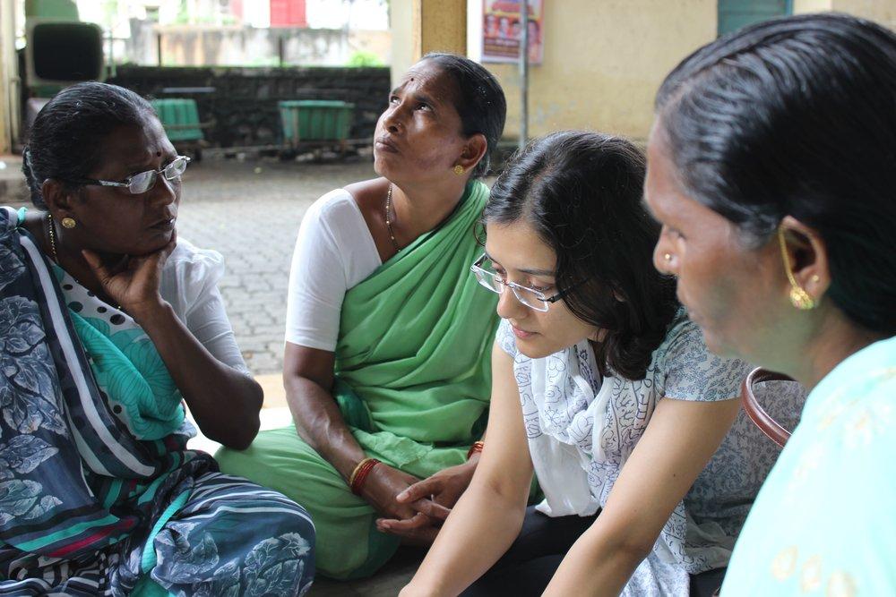 Mission Garima visits a chowki in Nehru Nagar.