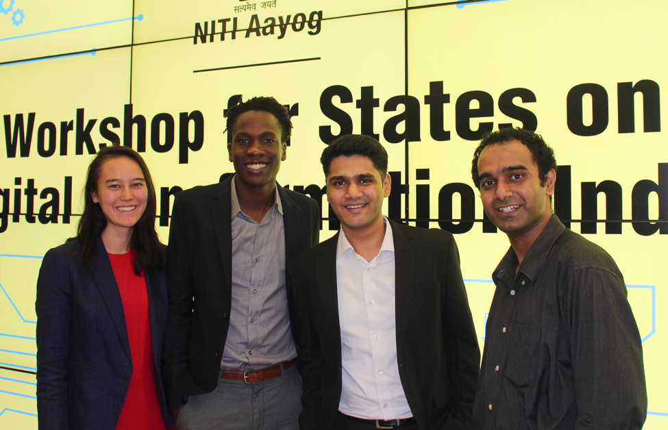 A recent photo of the team at a countrywide workshop for NITI Aayog –  July 11th, 2017