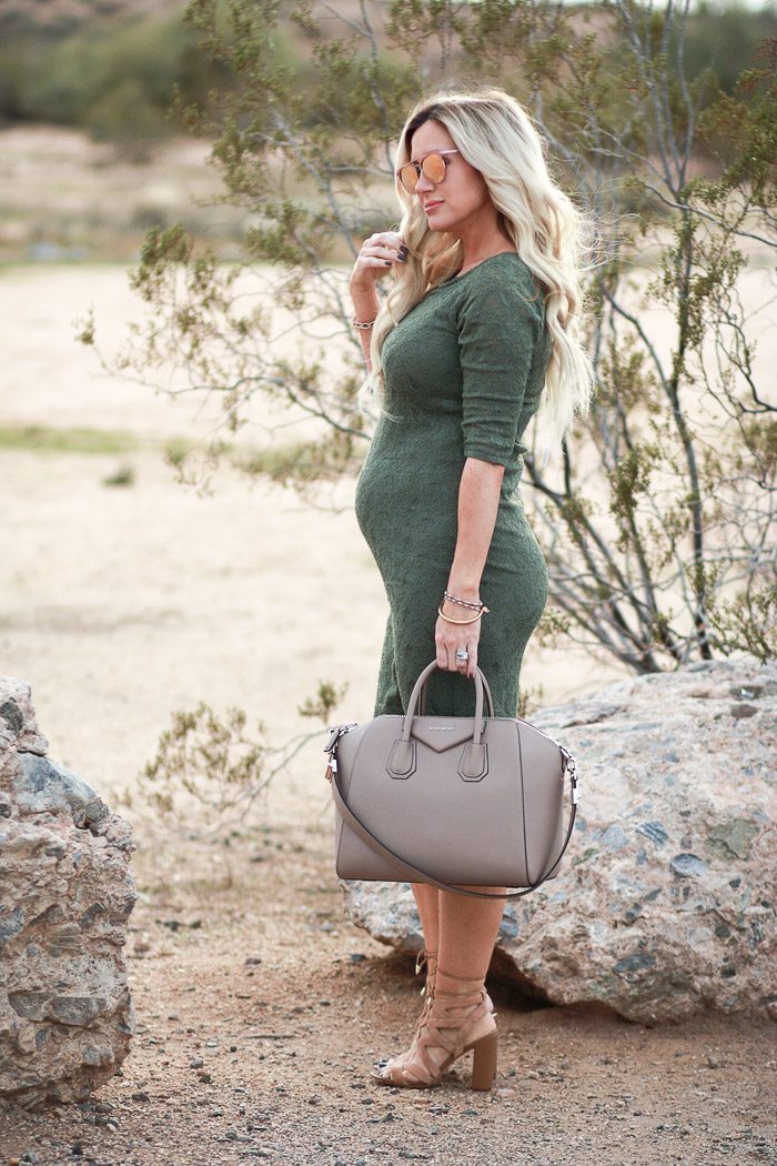 ef1e4085a31c6 Live Love Blank 2nd Trimester Pregnancy Update Shop Pink Blush Olive Dress