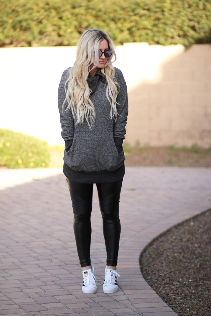 Live Love Blank Maternity Clothing with Kimi + Kai Kimi and Kai Athleisure sweatshirt Pregnancy style, maternity style, third trimester dressing for pregnancy style
