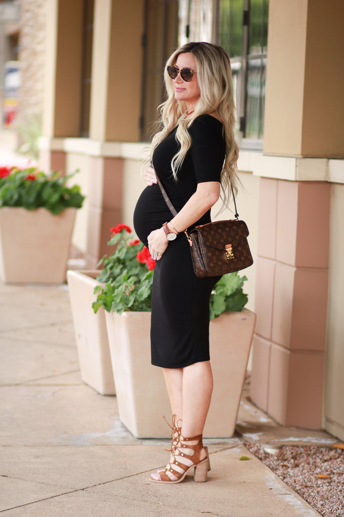 37b70246235 Live Love Blank Staple Black Maternity Dresses Asos Pregnancy Week Update 36  Feeling Huge and Super