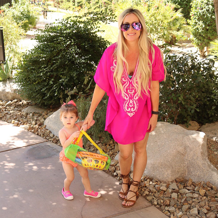 live love blank Instagram Roundup Favorite Fashion Design Beauty Mommyhood Posts mommy and me Quay sunnies sunglasses nordstrom, old navy shoes Hartley bright pink cover up