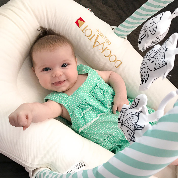 Live Love Blank Instagram Favorites Round Up and Recap June 2017 Dockatot with toy bar and toy set attachments happy baby 3 months old