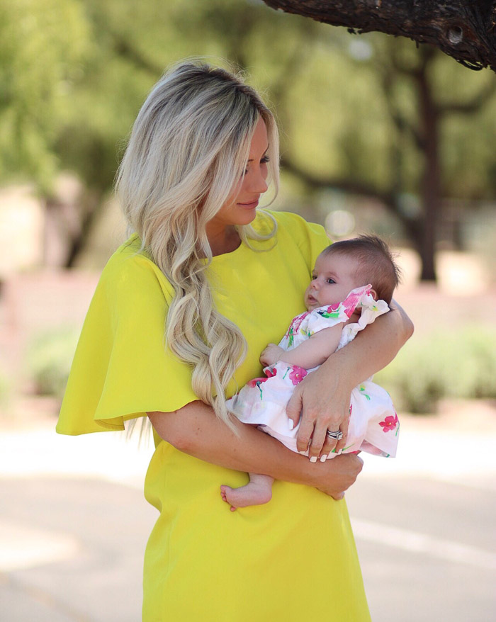 Live Love Blank Instagram Favorites Round Up and Recap June 2017 SheIn Yellow dress flutter sleeve she in gals, baby gap floral dress 3 months old baby girl grayson