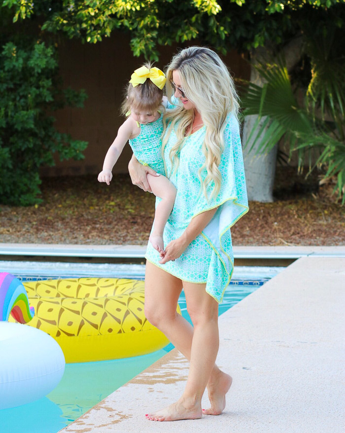 Live Love Blank Instagram Favorites Round Up and Recap June 2017 cabana life matching mommy and me bathing suit swimsuits coverup mint green mommy and me twinning matching, pineapple float unicorn float pool floaties, best tunic coverup by the pool beach 2 years old, mommy and daughter