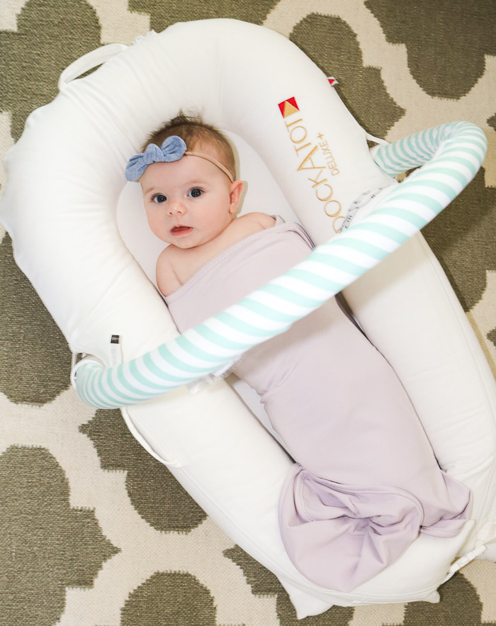 Live Love Blank Review on The Docktot Pristine White and The Ollie World Smarter Swaddle Lavender, Top Baby Items