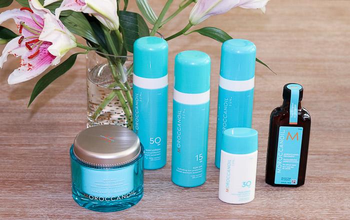 Live Love Blank Moroccanoil's Body And Sun Collection, Sunblock, Argan Oil, After Sun Milk, Body Buff Scrub, Sunblock SPF 50 and Lotion, SPF 15 oil, Face Sunscreen SPF 30