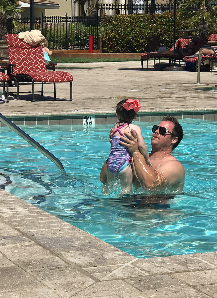 Thank God for daddy an always taking her in...poor honey barely gets to rest around the pool