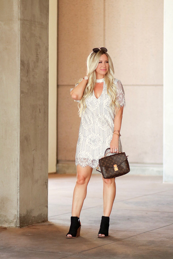 9-6-17 white lace dresss Nordstrom-72.jpgLive Love Blank Lace and Faux Leather...White After labor Day of course
