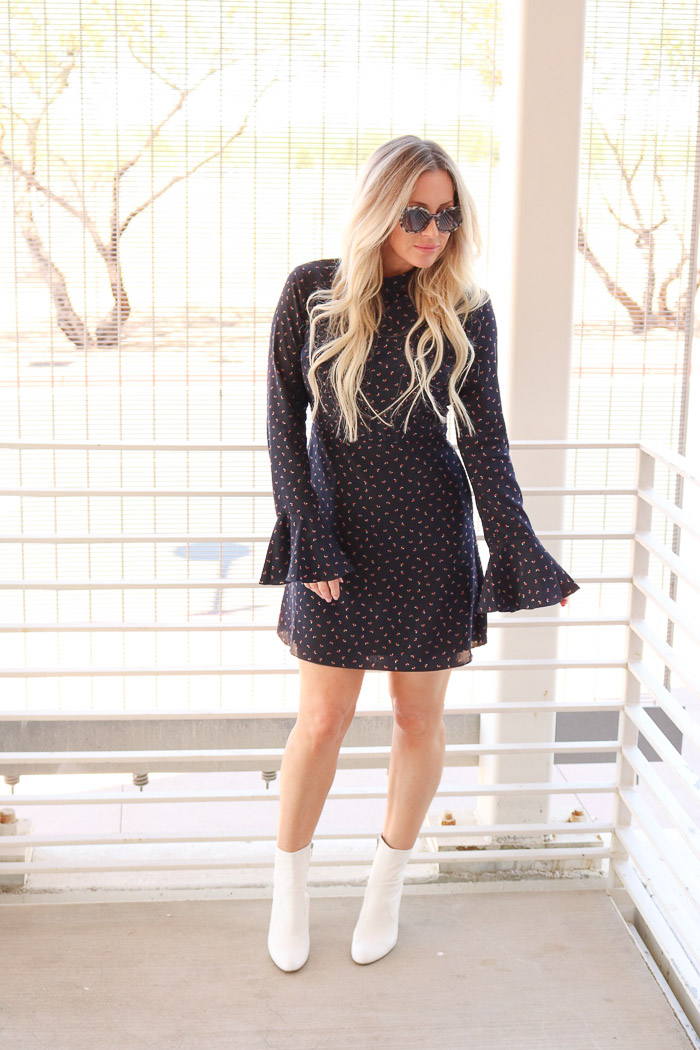 Live Love Blank White Boot Trend with a Flattering Navy Mini