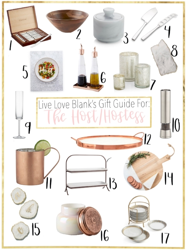 Live Love Blank liveloveblank.com Gift Guide for the Host and Hostess, Holiday 2018