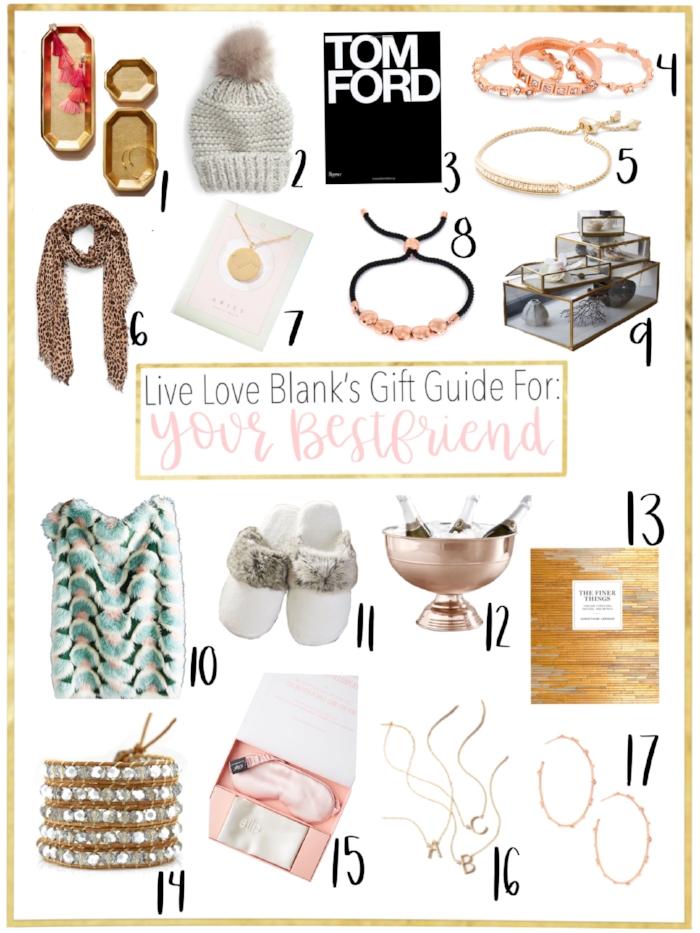 Live Love Blank Gift Guide 2018 Bestie For the Best Friend